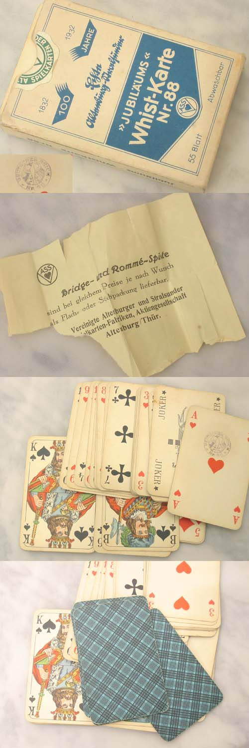 Playing cards from 1932