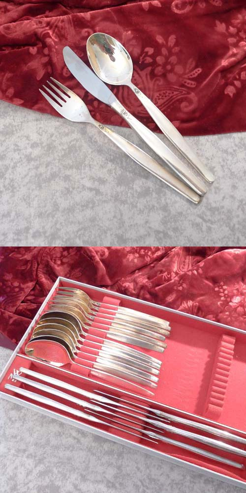 BSF Silverrose Flatware Service 6 Persons 90 silverplated