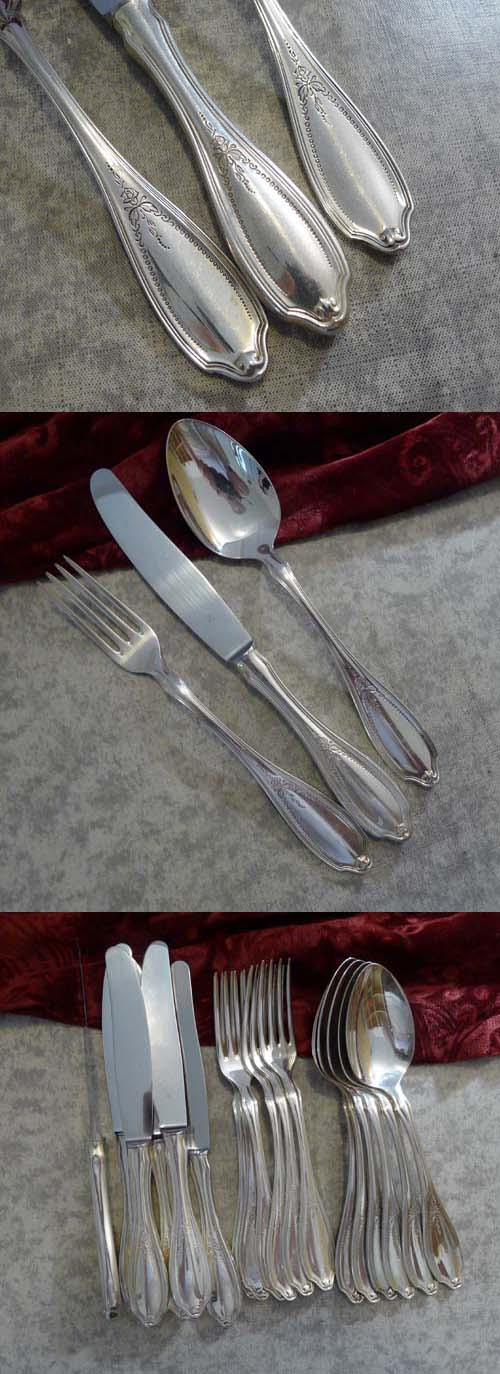 WMF English Rose Flatware Set 6 Persons 90 silverplated