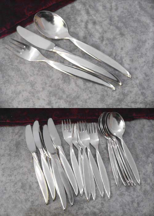 BSF Liane Flatware Service 6 Persons 90 silverplated