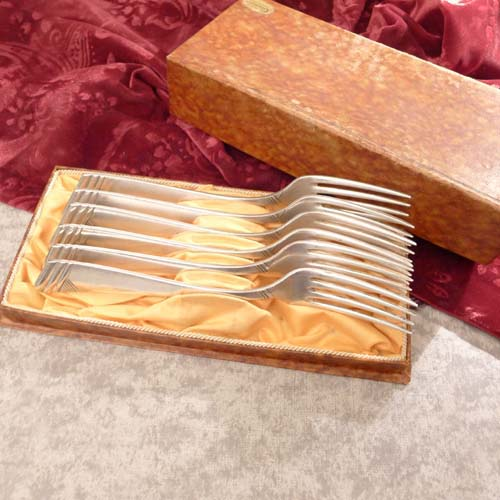 OKA 129 Art Deco 6 Forks 90 silverplated