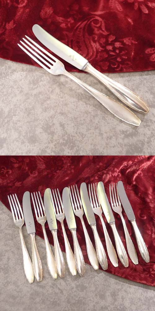 WMF 2300 Dessert Cutlery Set 6 Persons 90 silverplated