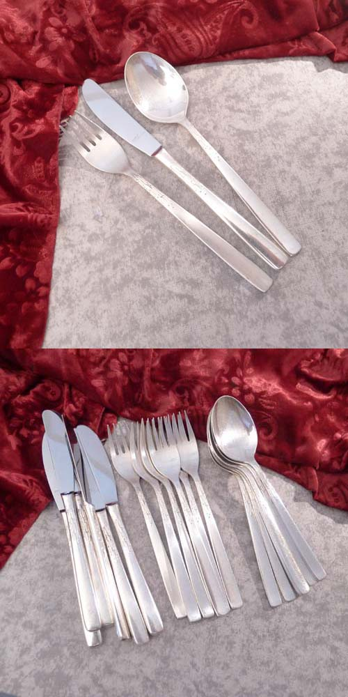 BSF Nordlicht Flatware Service 6 Persons 90 silverplated