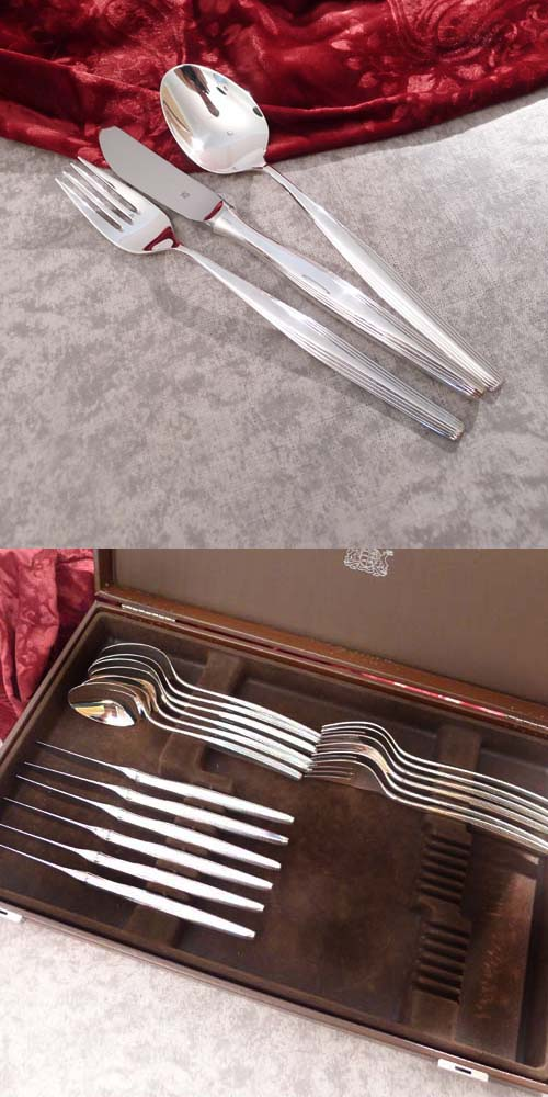 WMF Hannover Flatware Service 6 Persons 90 silverplated