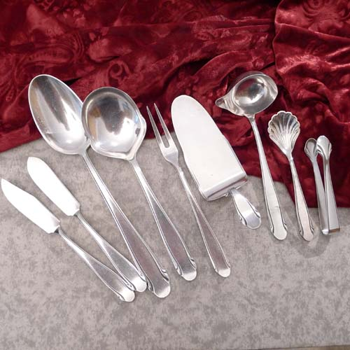 WMF 3300 Serving Set 9 pieces 90 silverplated