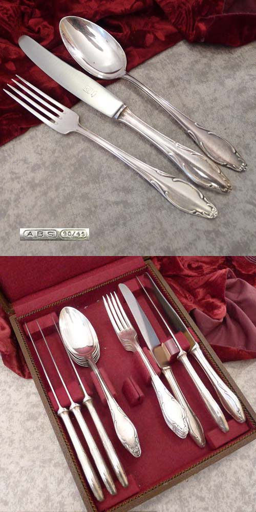 Wellner / ABS 550 Richard Wagner Flatware Service 6 Persons 90 s