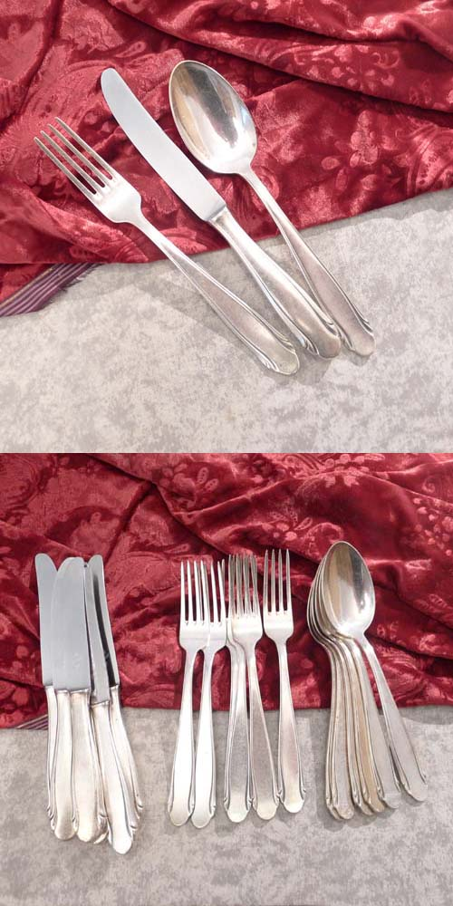 WMF 3300 Flatware Service 6 Persons 90 silverplated