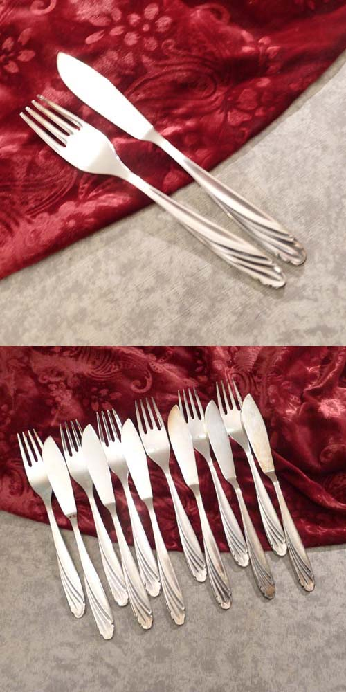 WMF Vienna Fish Cutlery Set 6 Persons 90 silverplated