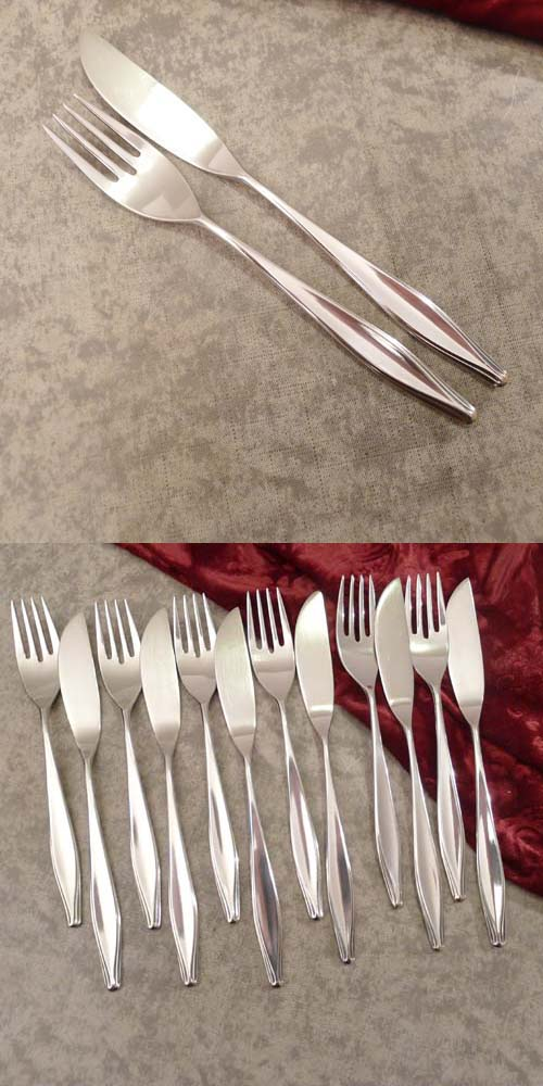 WMF Brüssel Fish Cutlery Set 6 Persons 90 silverplated