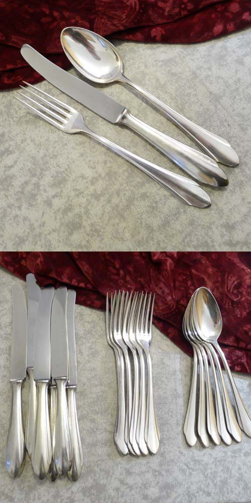 BSF 21 Art Deco Flatware Service 6 Persons 90 silverplated
