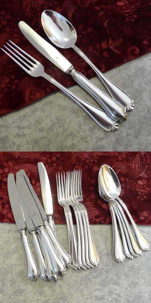 Wilkens 515 Flatware Set 6 persons 90 silverplated