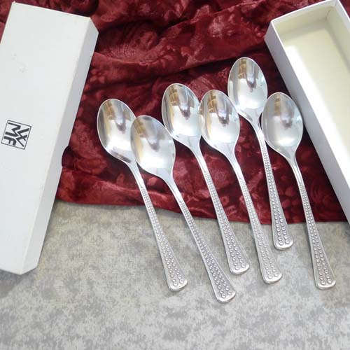 WMF Acapulco 6 Dessert Spoons 90 silverplated