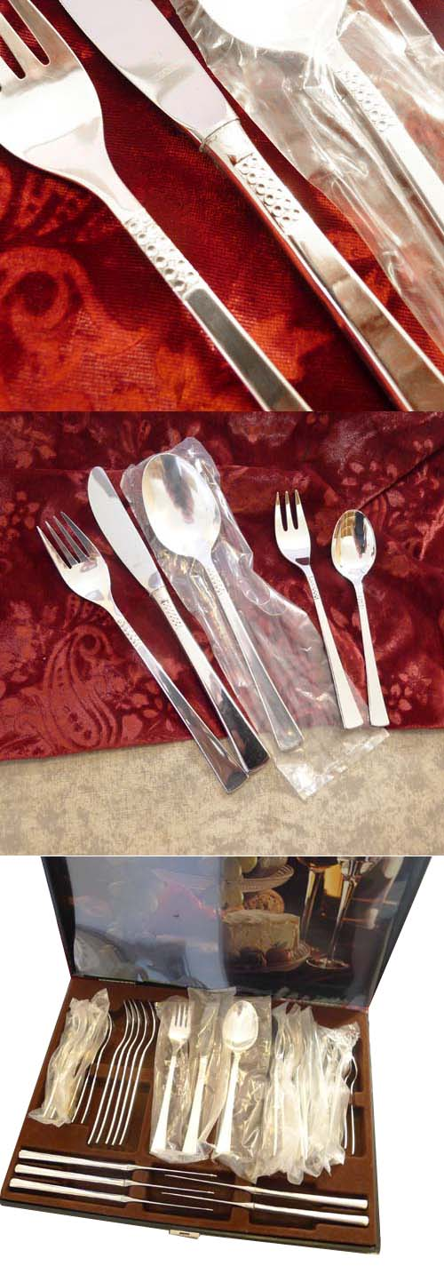 Wilkens Caribic Flatware Service 6 Persons 90 silverplated