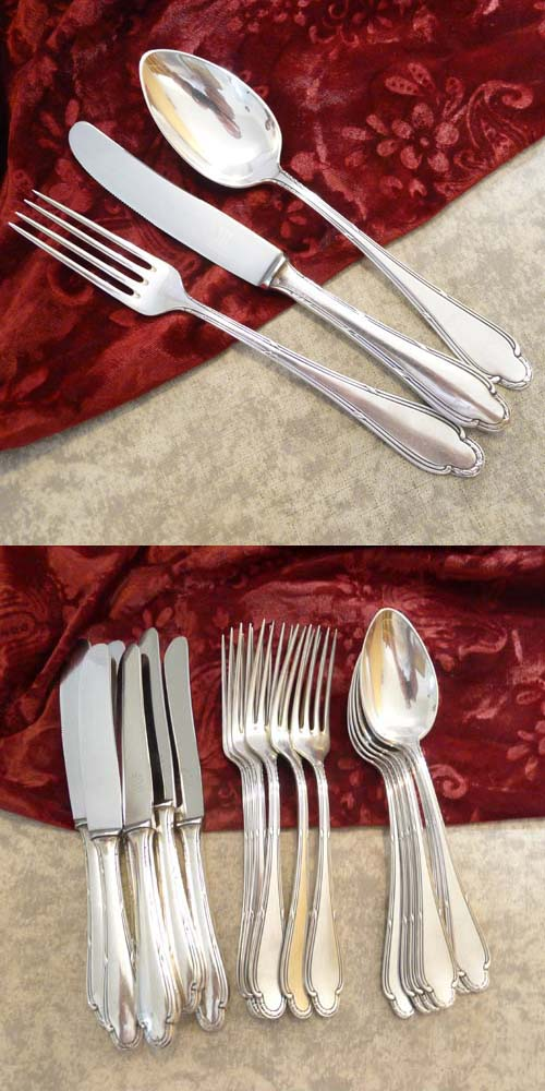 Wellner 216 Flatware Set 6 Persons 90 silverplated