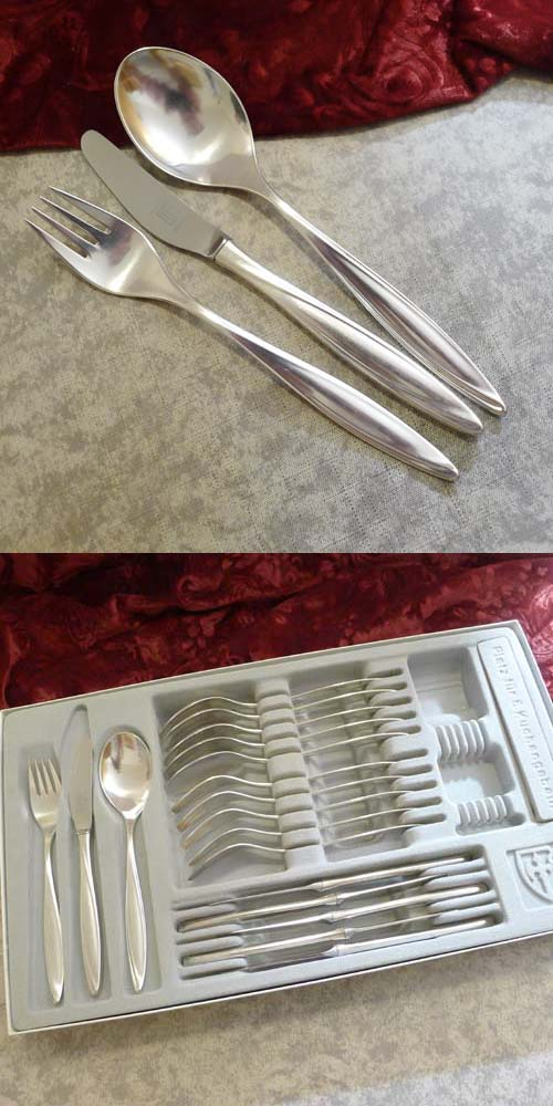Bruckmann 763 Princess Menu Cutlery 6 Persons 90 silverplated