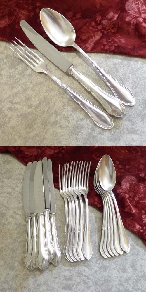 Wellner 356 Alice Flatware Set 6 Persons 90 silverplated
