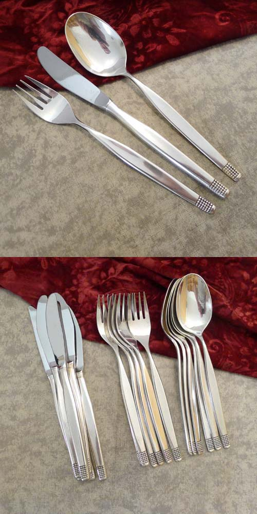 Wilkens Monte Carlo Flatware Service 6 Persons 90 silverplated