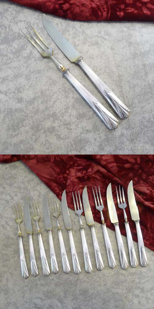 WMF 26 Empire Fruit Cutlery Set 6 Persons silverplated