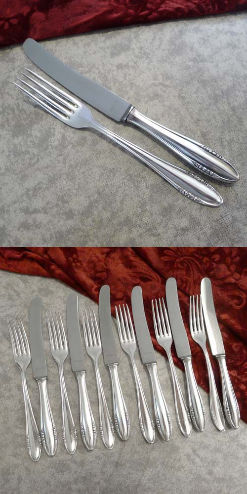 BSF 89 Fruits Dessert Cutlery Set 6 Persons 90 silverplated