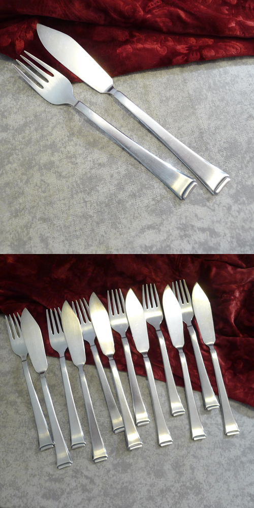 WMF 2500 Art Deco Fish Cutlery 6 persons 90 silverplated