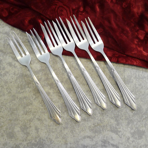WMF 900 Fächer 6 Cake Forks 16,5cm 90 silverplated