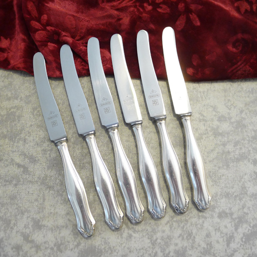 WMF 1700 6 fruit knifes 17,3cm 90 silverplated