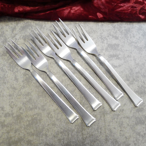 WMF 2500 Art Deco 6 Cake Forks 90 silverplated