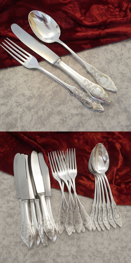 Wilkens Ostfriesenmuster Flatware Set 6 pers 90 silverplated